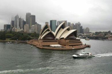 Das weltberühmte Opernhaus in Sydney